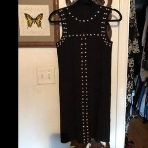 Black Silver Studded Dress